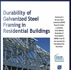 Durability of Galvanized Steel Framing in Residential Buildings