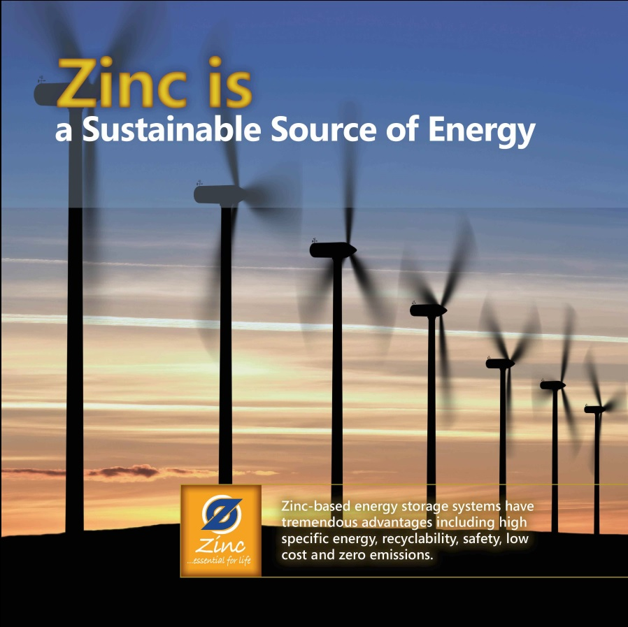 Zinc is a Sustainable Source of Energy