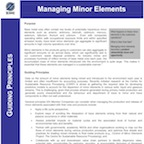 Managing Minor Elements